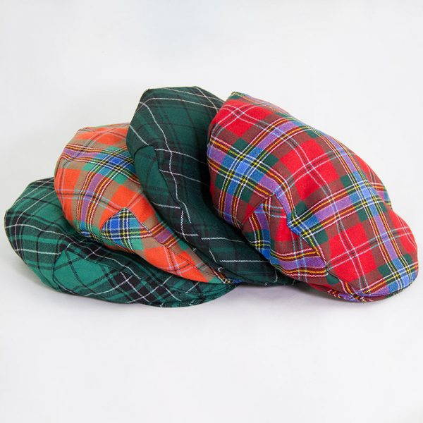 assorted tartan flat caps