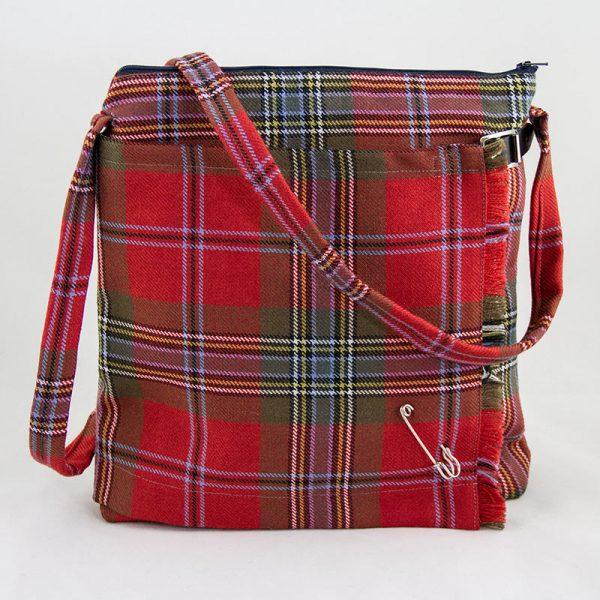 Maclean weathered tartan kilt bag
