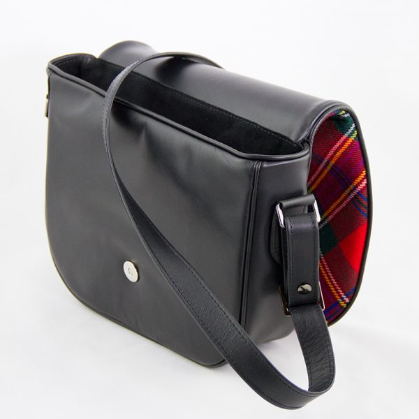 Maclean tartan shoulder bag open