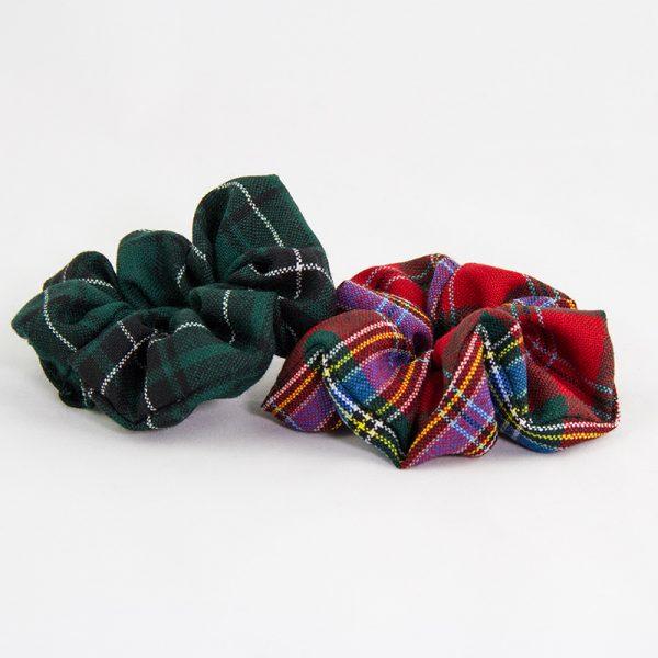 Tartan scrunchies