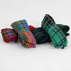 Varied tartan ribbons