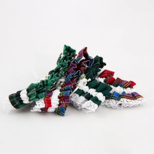 assorted tartan wedding garters