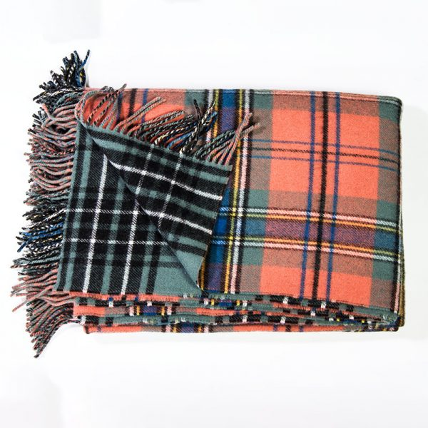double sided tartan rug, large