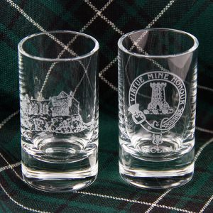 Maclean crest glasses