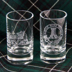 Maclean crest glasses