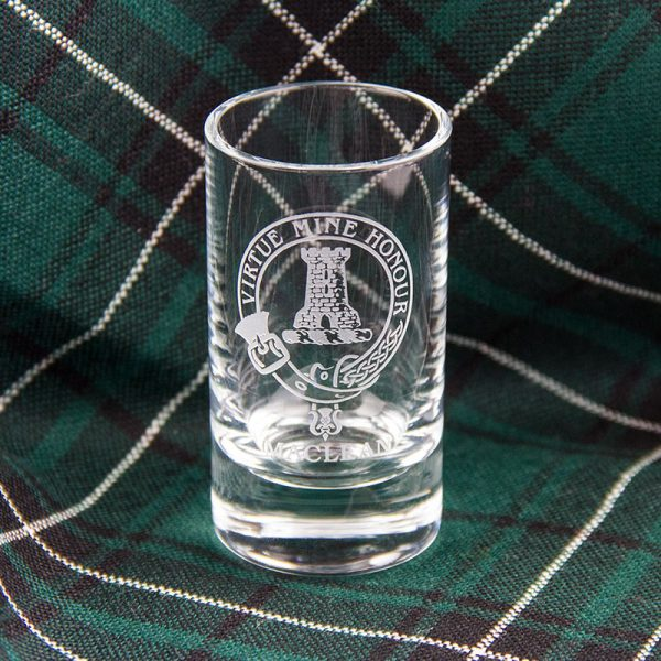 Maclean crest glass