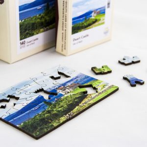 Duart Castle jigsaw puzzle in progress