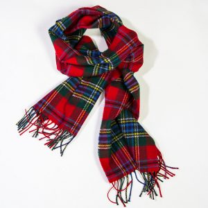 tartan woollen scarf