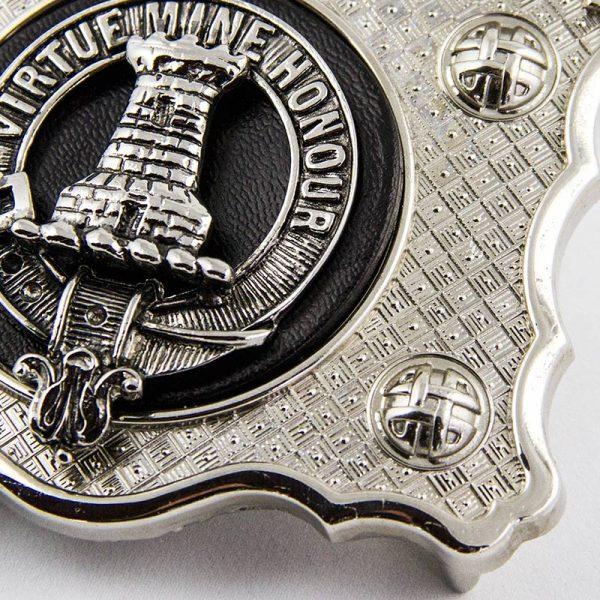 Maclean belt buckle detail