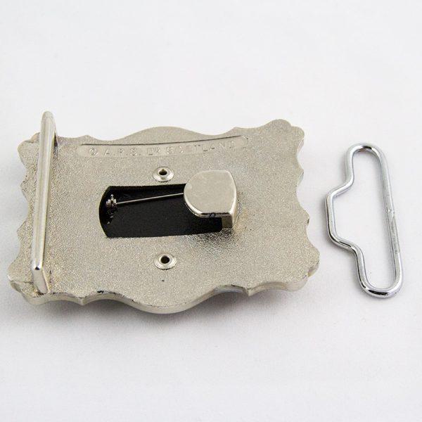 back of Maclean belt buckle