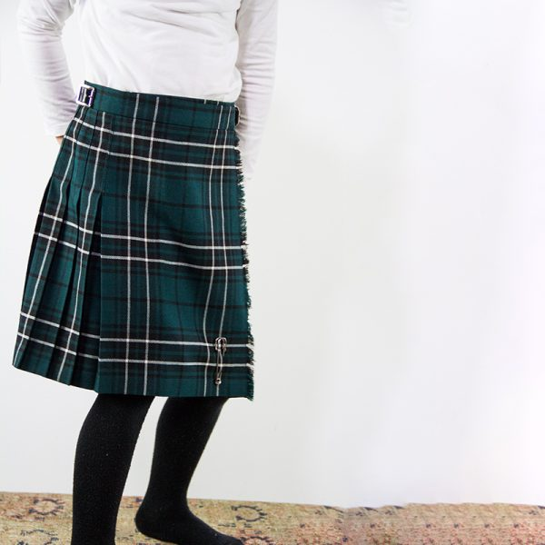 Children's Maclean Tartan Kilt modelled on young girl