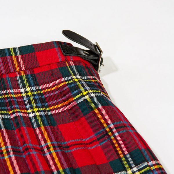 Children's Maclean Tartan Kilt buckle detail