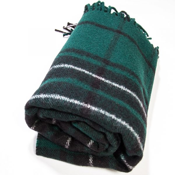 Maclean Tartan knee rug rolled up