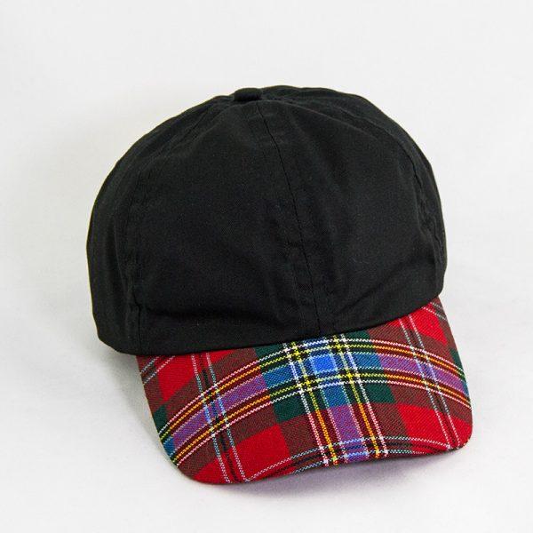 Maclean tartan peak cap
