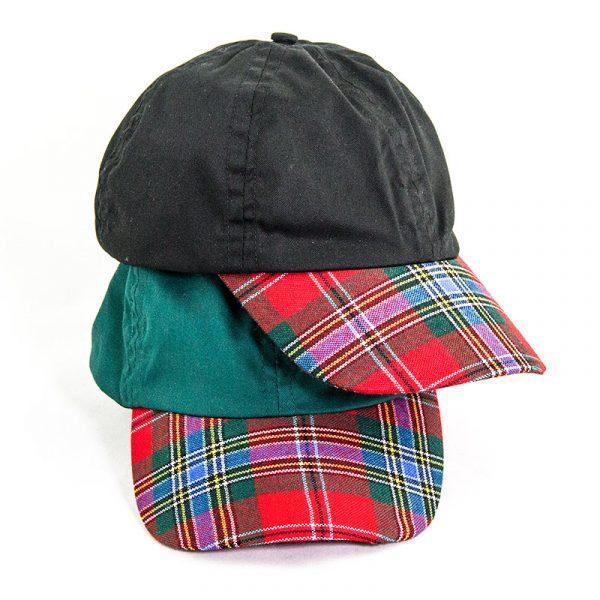 Maclean tartan peak caps