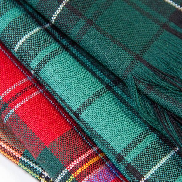 varied tartan sashes