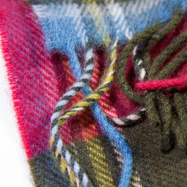 Maclean tartan serape-weathered detail