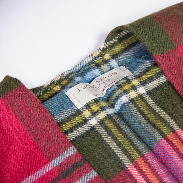 Maclean tartan serape-weathered label