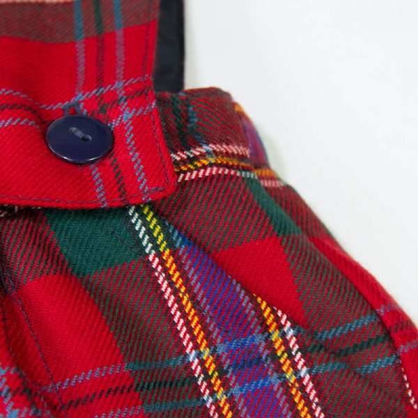 tartan pinafore dress button detail