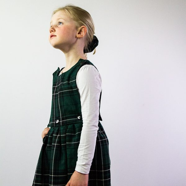 Hunting Maclean tartan pinafore dress