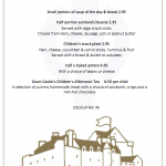 duart castle isle of mull tearoom childrens menu sample